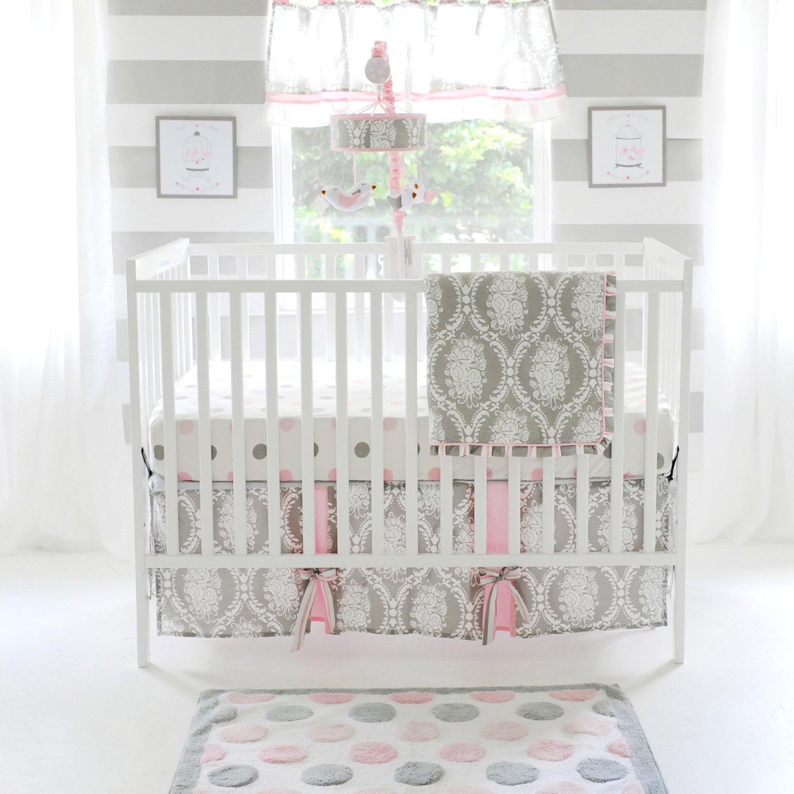 My Baby Sam Olivia Rose 3 Piece Crib Bedding Set