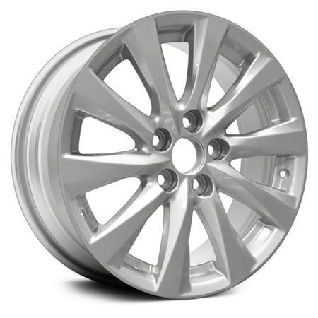 New Aluminum Alloy Wheel Rim 17 Inch Fits 2018 Toyota Camry 114.3mm 10 Spokes Silver (2018 Rims)