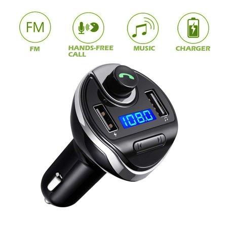 USB Dual Port Bluetooth FM Transmitter Wireless Music Player Charger FM Transmitter For (Best Am Fm Transmitter)