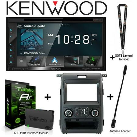 Kenwood DDX6906S DVD Waze Apple CarPlay fits Ford F-150 + ADS-MRR + Antenna  Adap