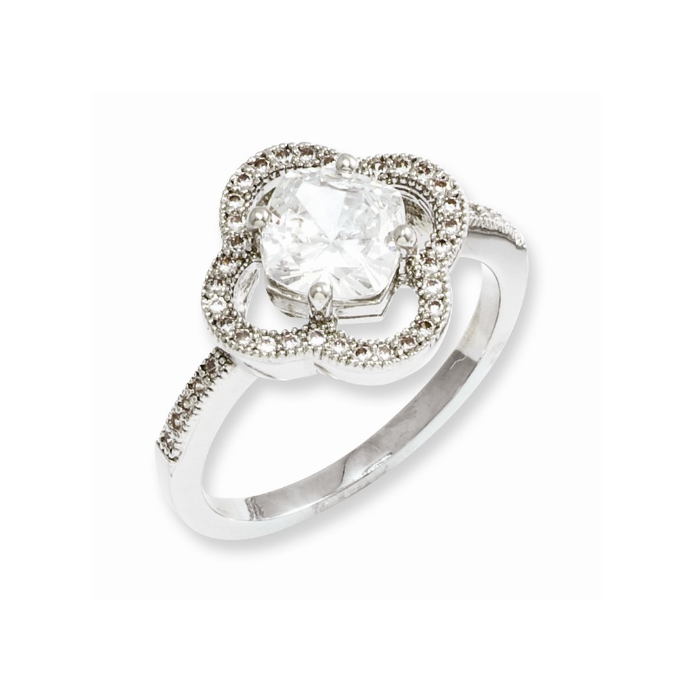 Sterling Silver & CZ Brilliant Embers Ring
