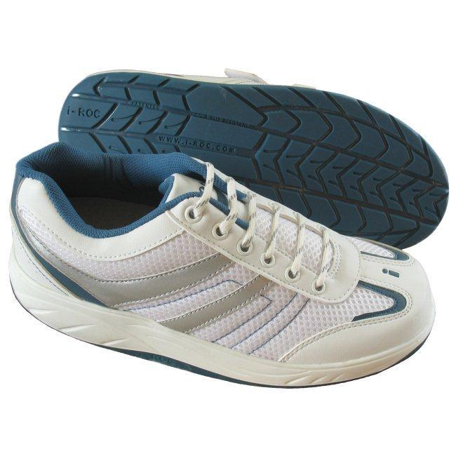 I-Roc W111B8 Womens Athletic Blue Lace Shoes