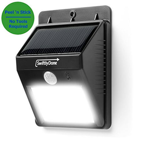 Power Peel (Swiftly Done Bright Solar Power Outdoor LED Light No Tools Required Peel and Stick Motion Activated)
