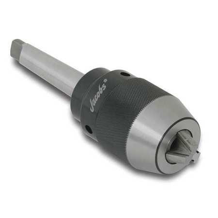 JACOBS 31411 Drill Chuck, Keyless, Steel, 0.512 In, R8