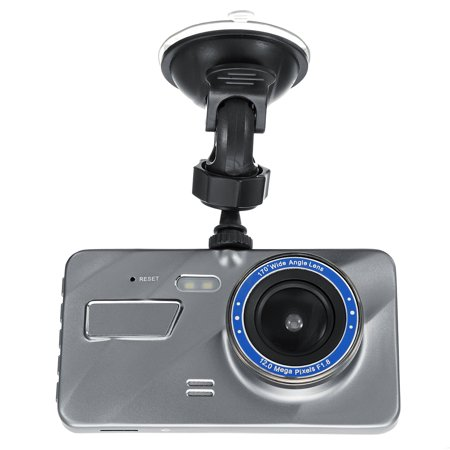 "4"" HD 1080P Dual Lens Car DVR Camera Video Dash Cam Recorder Front and Rear Car Dashboard Support G-sensor 170 Degree - image 10 of 12"