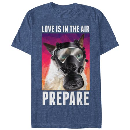 Grumpy Cat Men's Valentine's Love in the Air Gas Mask T-Shirt](Cat Valentines)