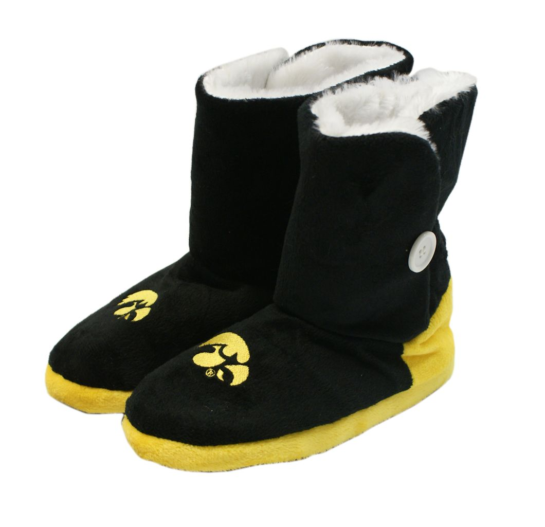 Iowa Hawkeyes Slippers Womens Boot by Forever Collectibles