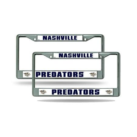 - Nashville Predators NHL Chrome Metal (2) License Plate Frame Set