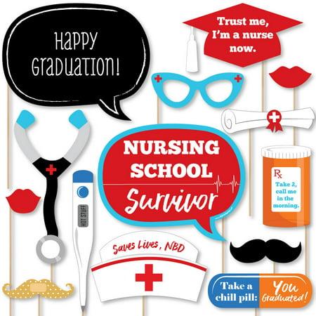 Nurse Graduation - Medical Nursing Graduation Photo Booth Props Kit - 20 Count ()