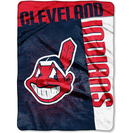 "MLB Cleveland Indians ""Strike"" 60"" x 80"" Raschel Throw by"