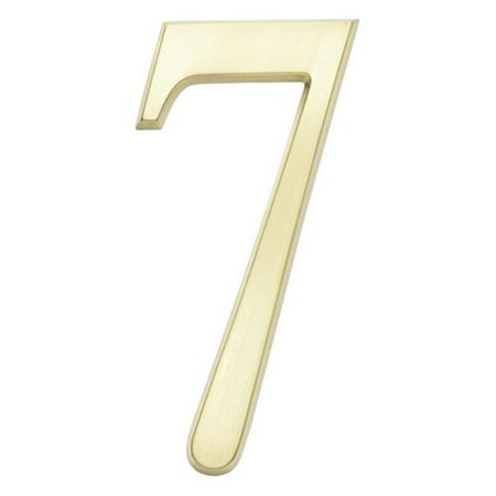 DeSign-it Number Standard Plaque - Brushed Nickel, No. 7 ()