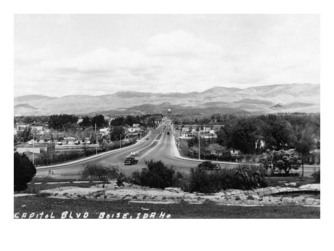 Boise, Idaho Capitol Boulevard Art Print By Lantern Press by Art.com