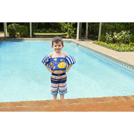 Poolmaster Learn-to-Swim Lil\' Splashers Swimming Pool Float Training Aid,  Blue