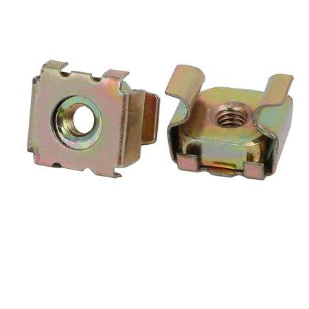 15pcs M4x0.7mm 65Mn Spring Steel Captive Cage Nut for Server Shelf Cabinet - image 2 of 3