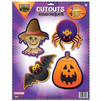 HALLOWEEN PARTY-WALL CUT OUTS 12 PACK - Halloween Cut Out Pages