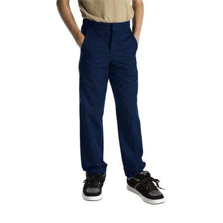 Lycra Straight Leg Pants (Genuine Dickies Boys School Uniform Classic Fit Straight Leg Flat Front Pants (Big Boys))
