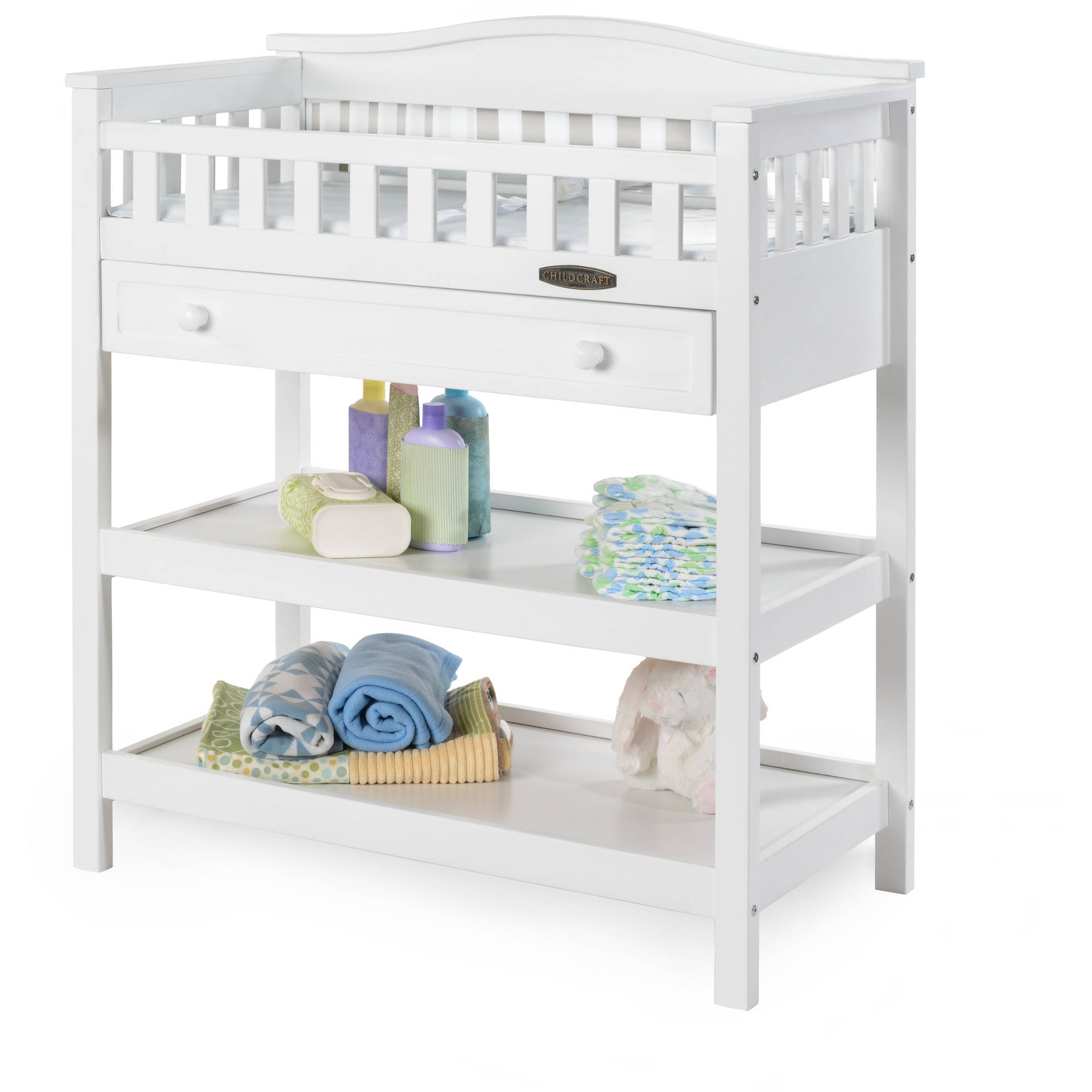 Child Craft Watterson Dressing Table with Drawer, Matte White