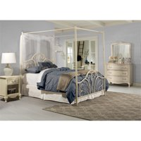 Hillsdale Dover Transitional Full Metal Bed in Cream