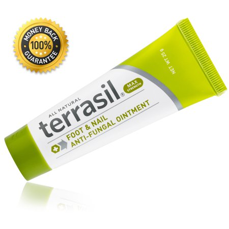 Terrasil® Foot & Nail Antifungal MAX Strength Ointment with All Natural Activated Minerals® for Fast Relief from Athelete's Foot and Toe Fungus (25gm Tube