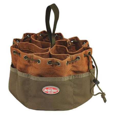 "Bucket Boss 25001 10"" X 6.5"" Green & Brown Parachute Bag by Pull'r Holdings Llc/bucketboss"