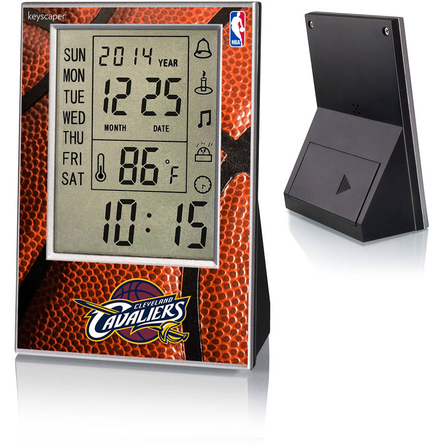 Cleveland Cavaliers Basketball Design Digital Clock by Keyscaper