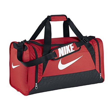 Nike Brasilia 6 Gym Training Duffel Bag, Light Crimson