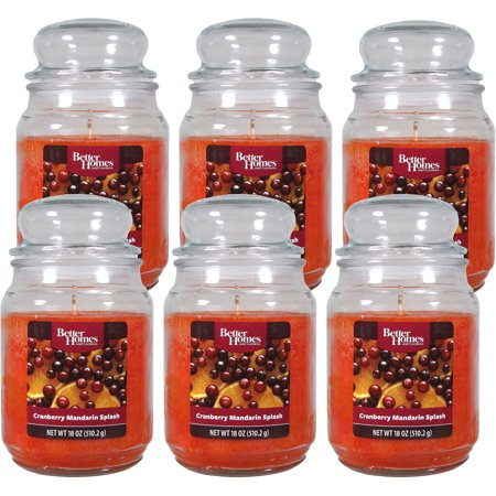 Better homes and gardens 18 ounce candles cranberry mandarin splash 6 pack Better homes and gardens diffuser