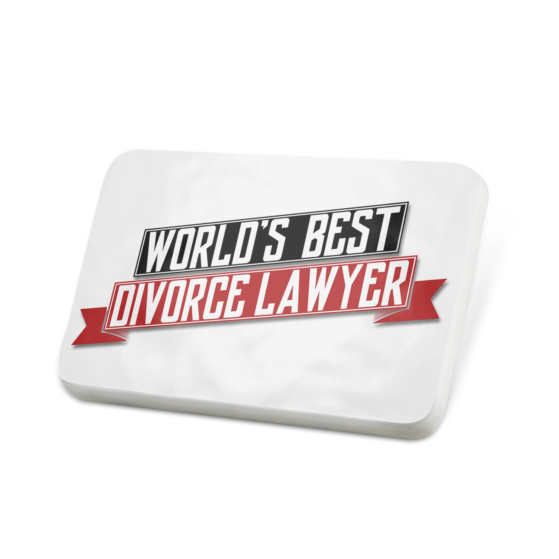 Porcelein Pin Worlds Best Divorce Lawyer Lapel Badge – NEONBLOND