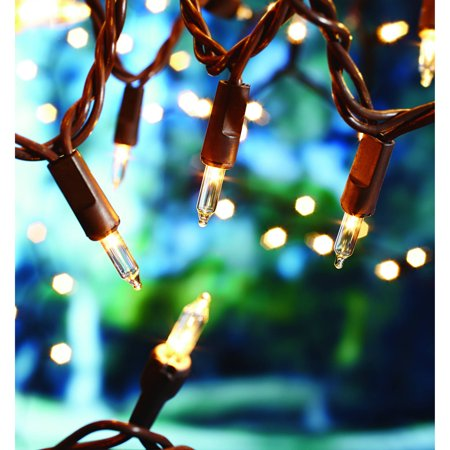 Mainstays 100 Clear Indoor/Outdoor Light String, Brown Wire - Walmart.com