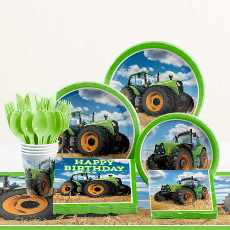 Tractor Time Birthday Party Supplies Kit