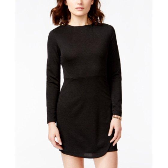 City Studios City Studio Black Long Sleeve Dress Size 3 Walmart