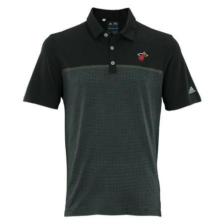 Miami Heat Mens Jerseys - Adidas NBA Men's Miami Heat Aeroknit Jersey Polo
