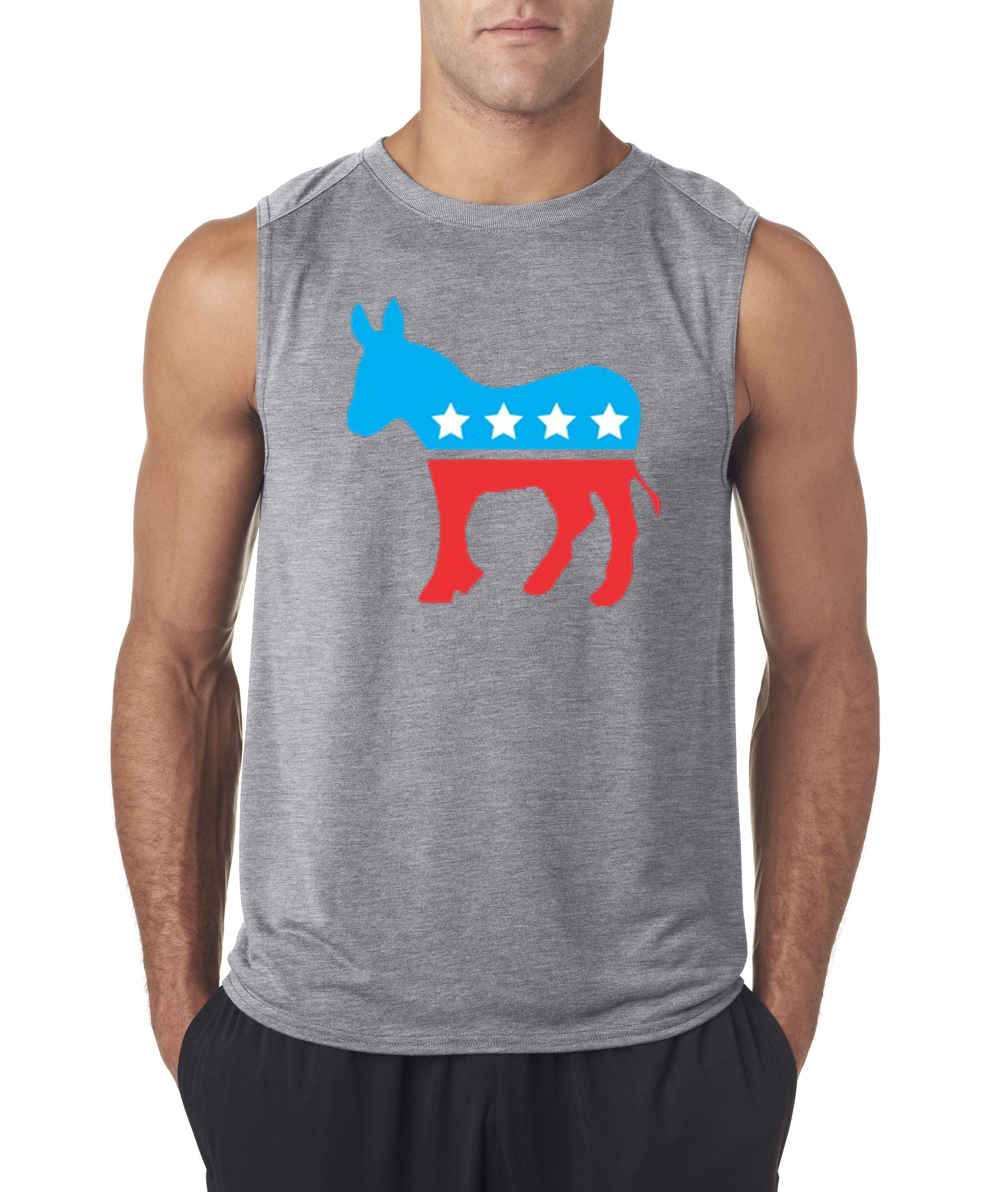 Allwitty 1011 - Men's Sleeveless Democrat Donkey Mascot ...
