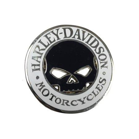 Willie G Skull Cutout Challenge Coin, 1.75 inch Coin 8004835, Harley Davidson 13mm Black Coin