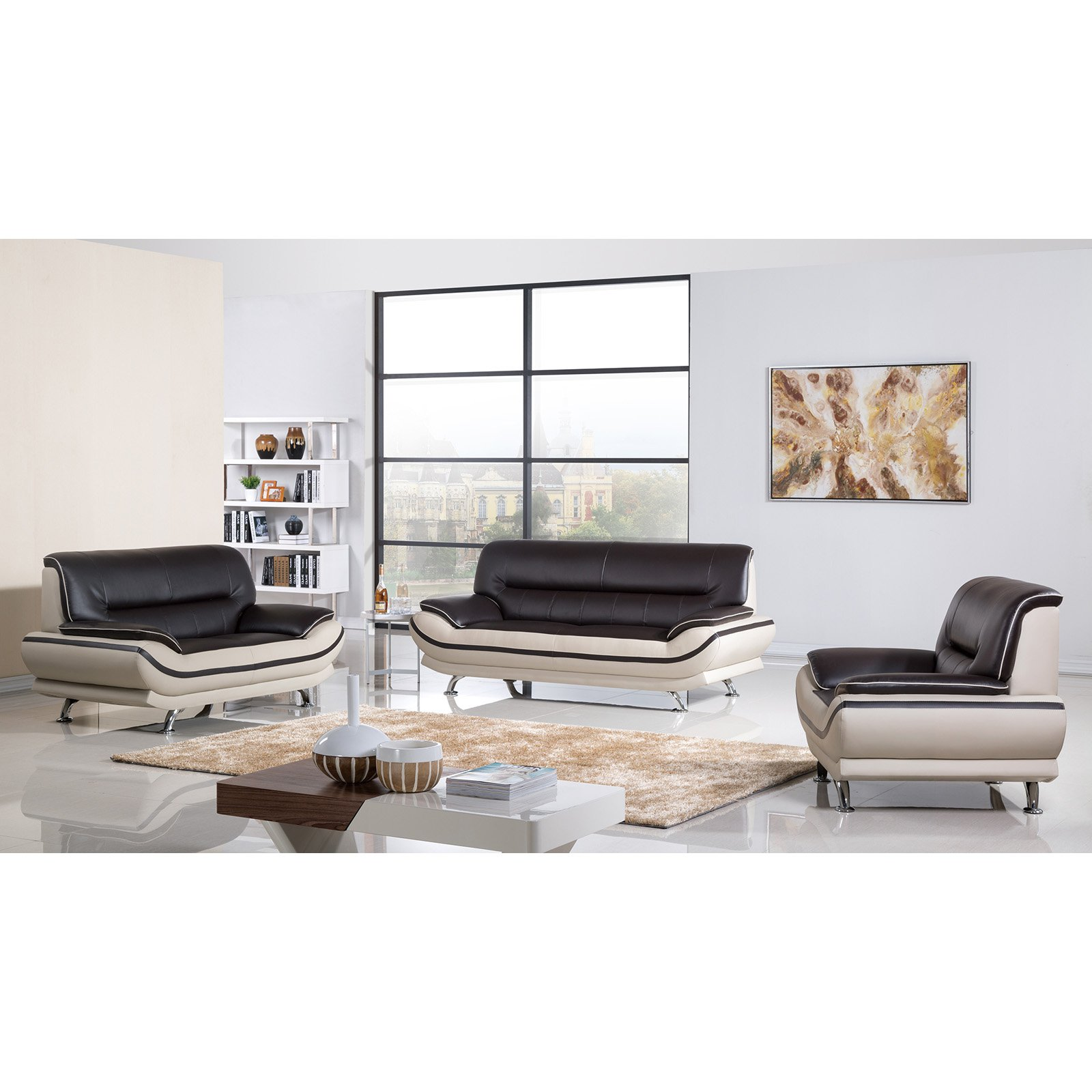 Delicieux American Eagle Furniture Mason 3 Piece Sofa Set   Walmart.com
