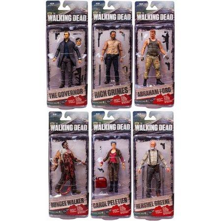 Mcfarlane Amc Tv Walking Dead Tv Series 6 Set Of 6 Action Figures