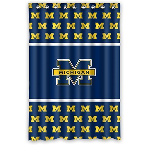 DEYOU Michigan Wolverines Design Shower Curtain Polyester Fabric Bathroom Shower Curtain Size 48x72 inches