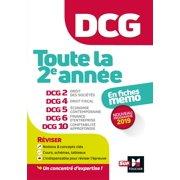 DCG : Toute la 2è année du DCG 2, 4, 5, 6, 10 en fiches - Révision - eBook