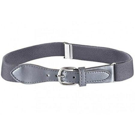 Kids Elastic Adjustable Belt with Leather Buckle (Grey Belt Buckle)