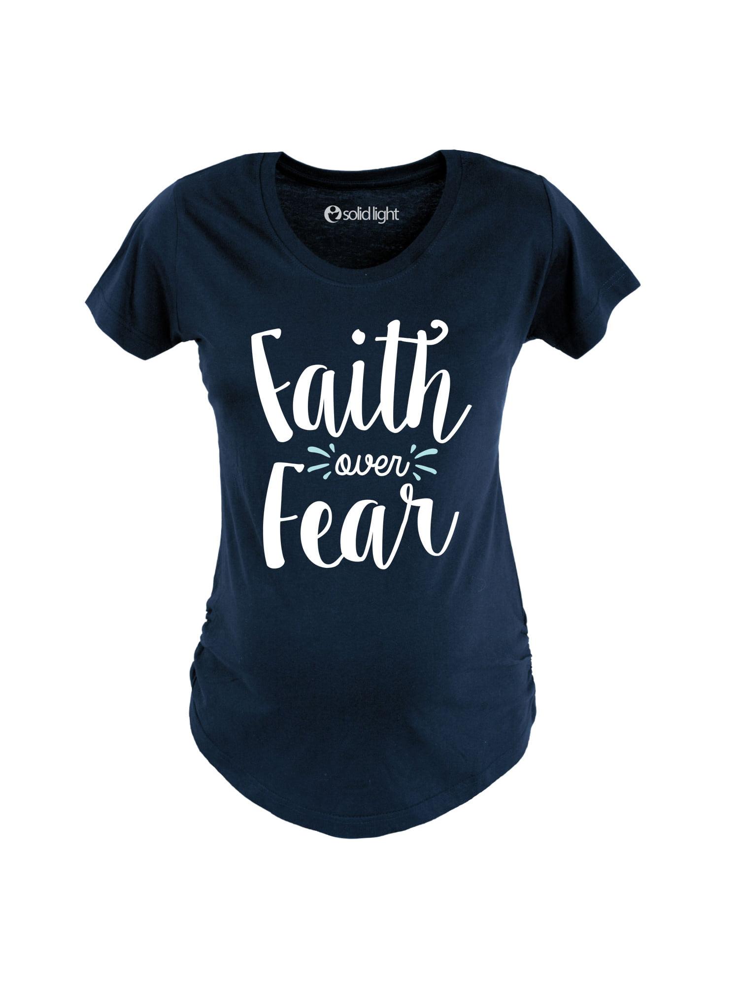 Faith Over Fear-MATERNITY Scoop Neck Tee