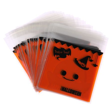 KABOER 100X Halloween Favor Bag Pumpkin Cookie Candy  Kids Trick Or Treat Gift Bag](Trick Or Treat Halloween Pumpkin)
