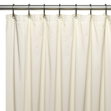 Extra Long (72'' x 78'') Mildew-Resistant, 10 Gauge Vinyl Shower Curtain Liner w/ Metal Grommets and Reinforced Mesh Header in