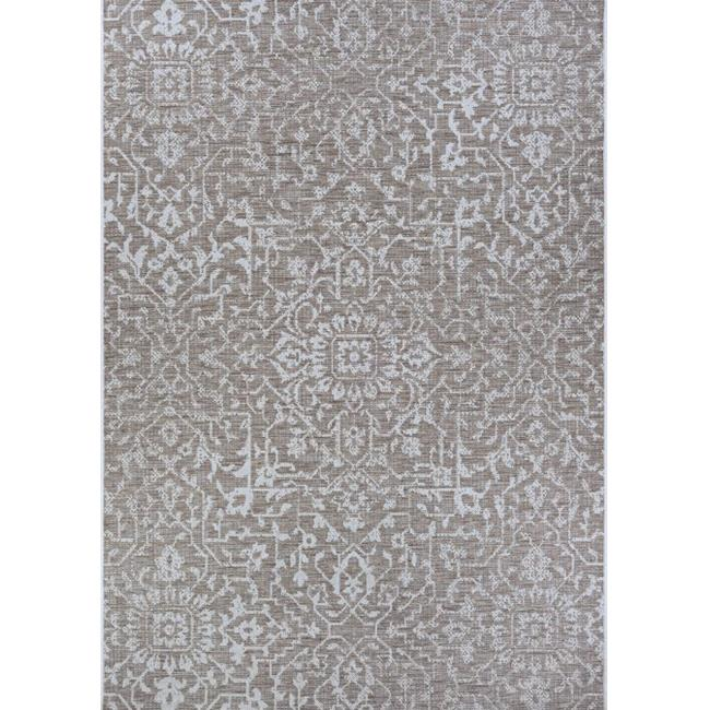 Couristan 23293125076109T 7 ft. 6 in. x 10 ft. 9 in. Monte Carlo Palmette Power Loomed Rectangle Area Rug - Mushroom & Ivory - image 1 of 1