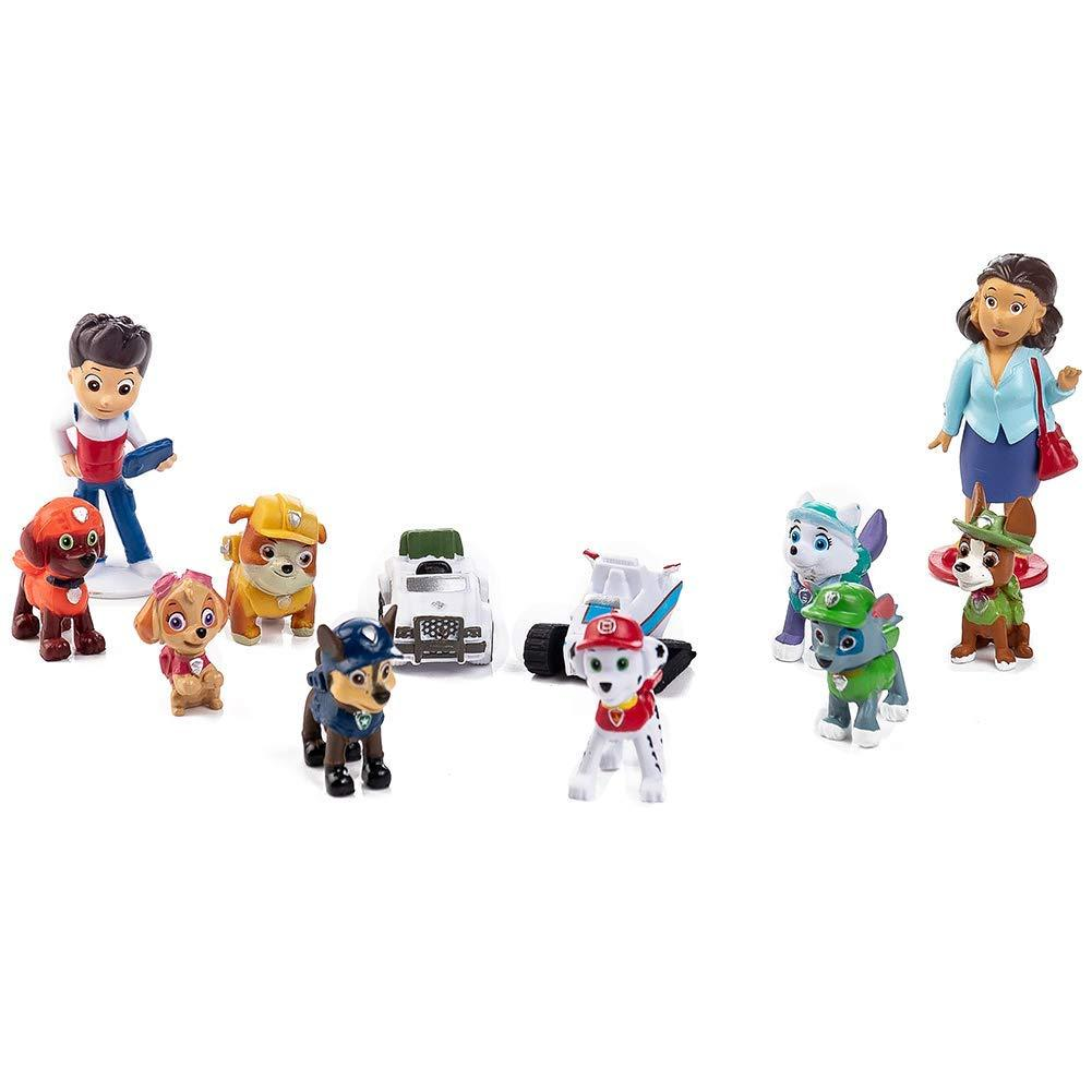 Paw Patrol Mini Toys Childrens Birthday Shower Party cake Supplies 12PCS Paw Patrol Cake Topper and Cup Cake Topper
