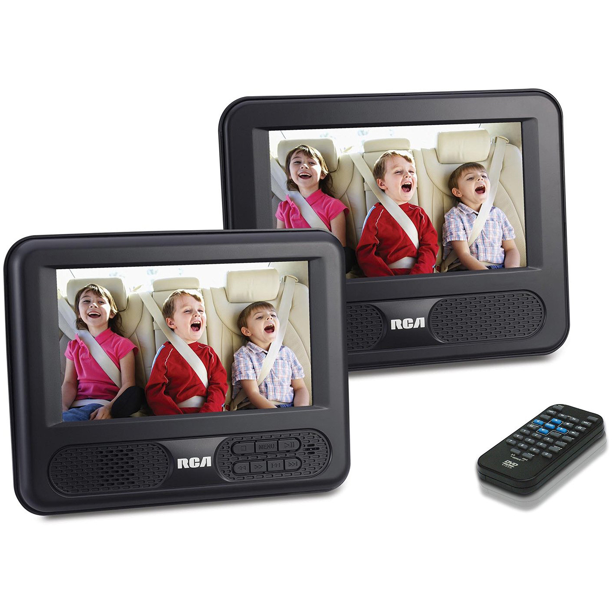 RCA DRC69707 Dual 7-Inch Screen Mobile DVD System (Certified Refurbished)