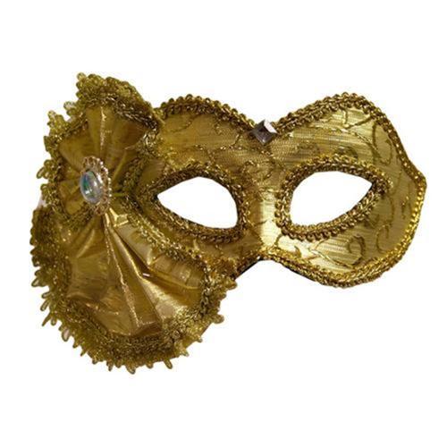 Luxury Divas Gold Brocade Venetian Masquerade Costume Mask