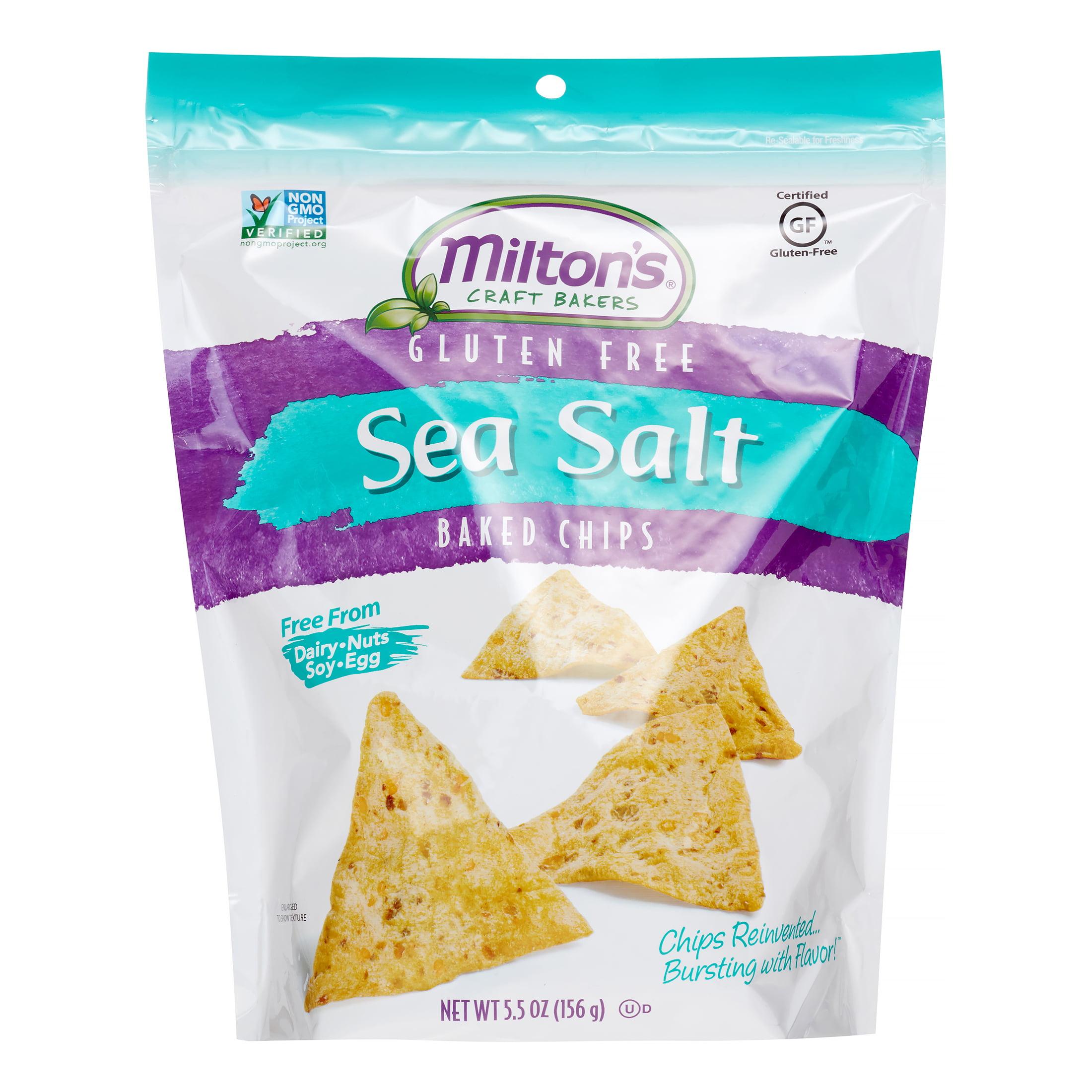 Miltons Milton's Craft Bakers Gluten Free Sea Salt Baked Chips, 5.5 Oz