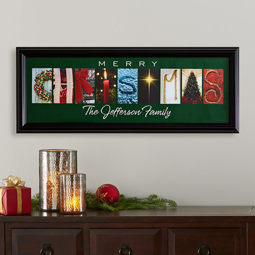 Personalized Christmas Inspirations Framed Photo Print