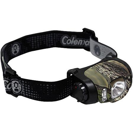 Coleman 3AAA Camo Multi Color LED Headlamp
