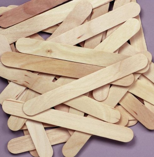 "Chenillekraft Natural Wood Jumbo Craft Stick - 750 Mil X 6"" - Natural (CKC377601)"